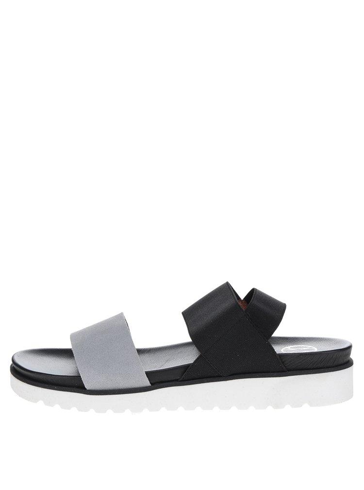 Sandale negru&gri OJJU cu bareta elastica