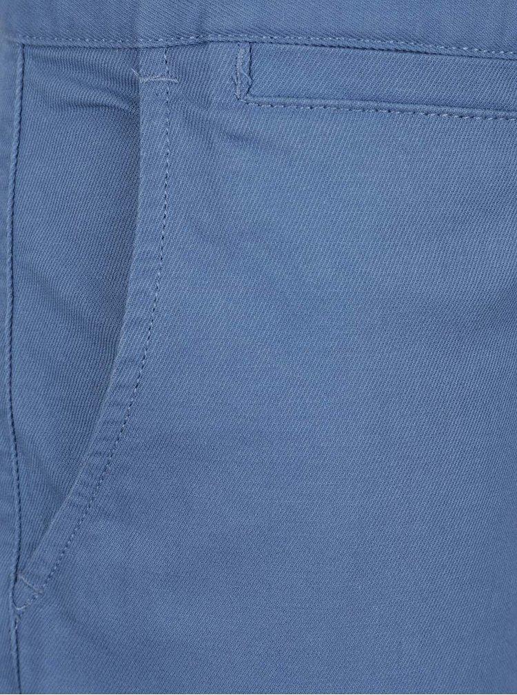 Modré pánské chino kraťasy NUGGET Lenchino