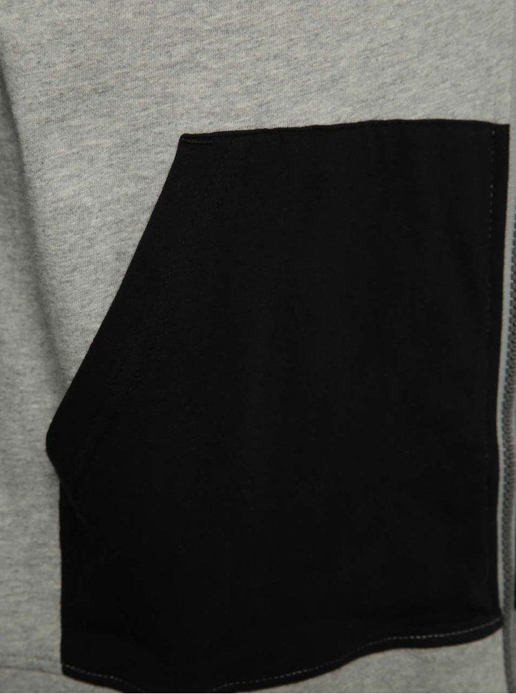 Hanorac negru & gri NUGGET Endurance cu glugă