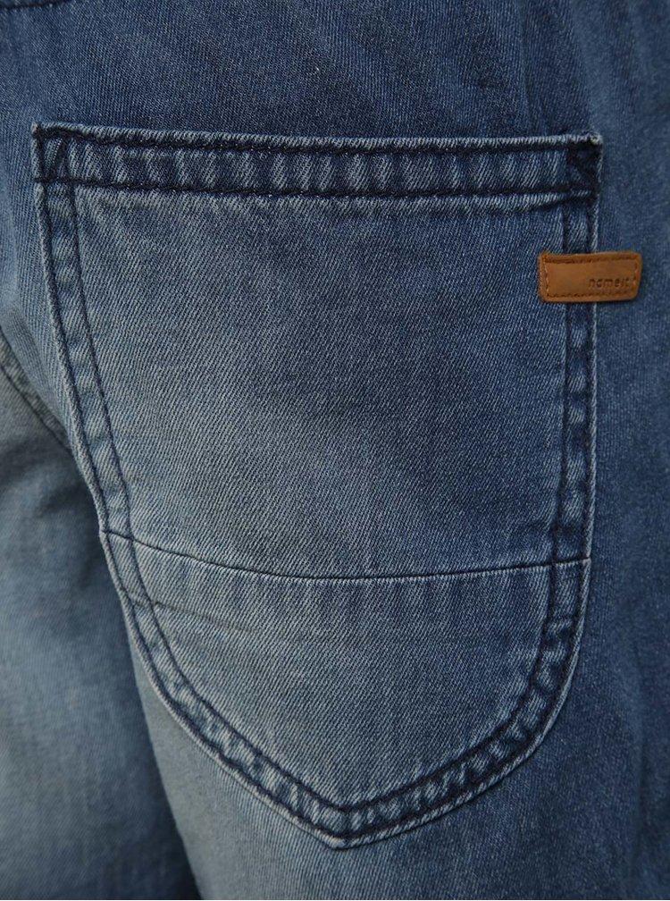 Modré klučičí kraťasy s vyšisovaným efektem name it Becen