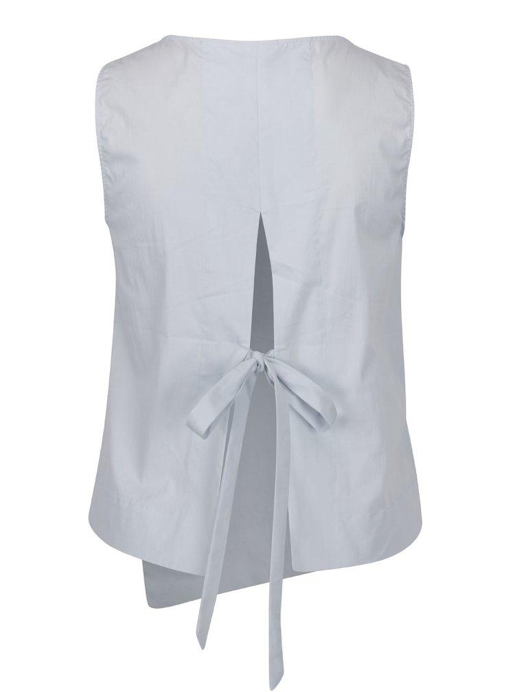 Bluză bleu VERO MODA Smilla cu decupaj la spate