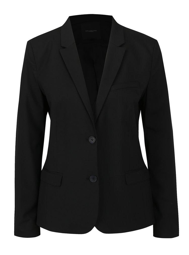 Černé sako Selected Femme Fia