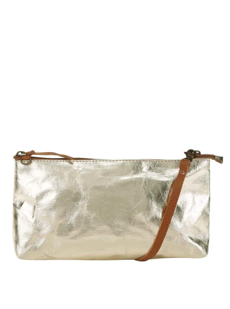Crossbody kabelka/psaníčko ve zlaté barvě UASHMAMA® La Busta