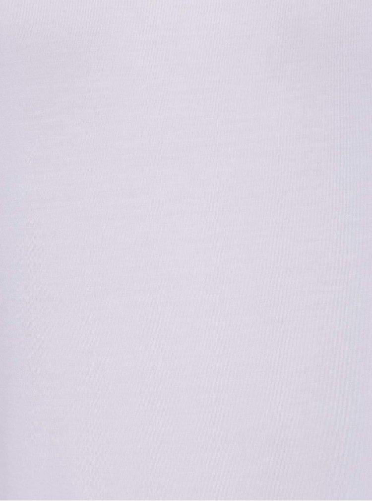 Bílé basic tričko s krátkým rukávem VERO MODA Charly