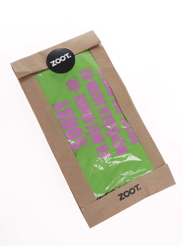 Zelené dámské funkční tričko ZOOT Originál Sorry fitko