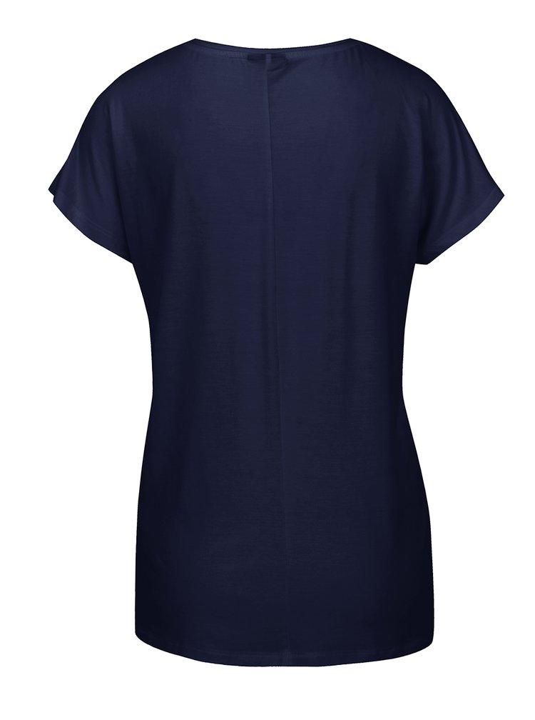 Tmavě modré basic tričko s krátkým rukávem VERO MODA Charly