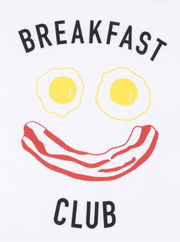 Bílé dámské tričko s krátkým rukávem ZOOT Originál Breakfast club