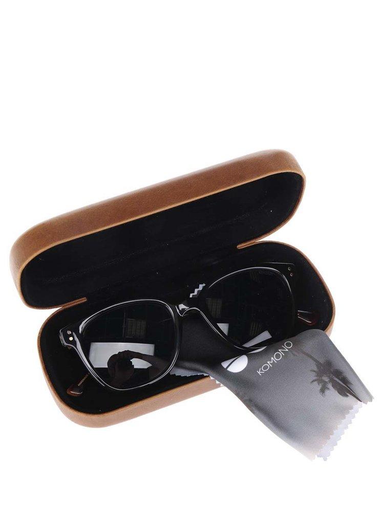Hnědo-černé sluneční unisex brýle Komono Renee