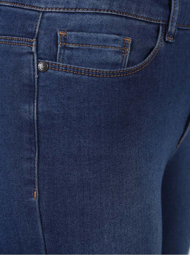 Jeansi trei sferturi bleumarin din denim VERO MODA Seven