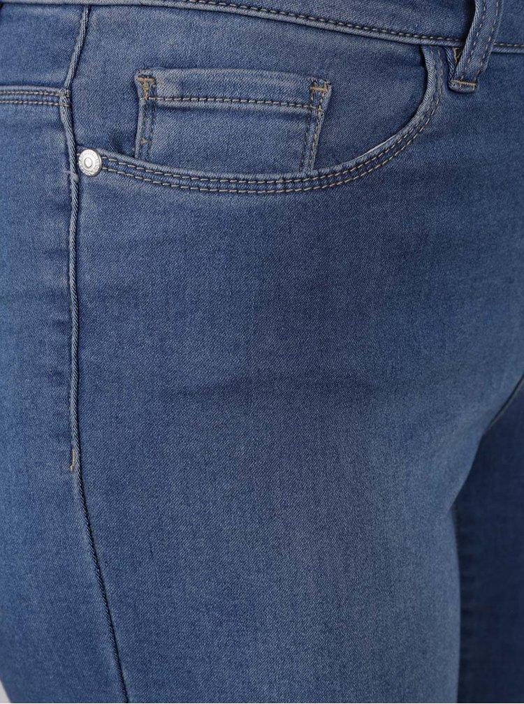 Pantaloni albastru deschis trei sferturi din denim VERO MODA Seven