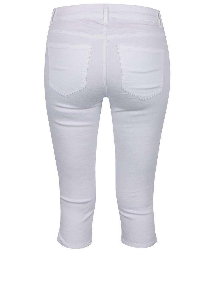 Pantaloni albi trei sferturi din denim VERO MODA Seven