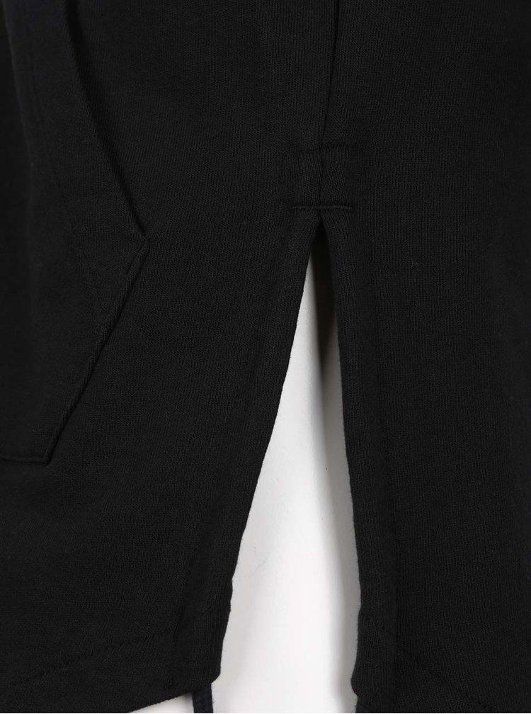 Černá mikina s krátkými rukávy Jack & Jones Fola