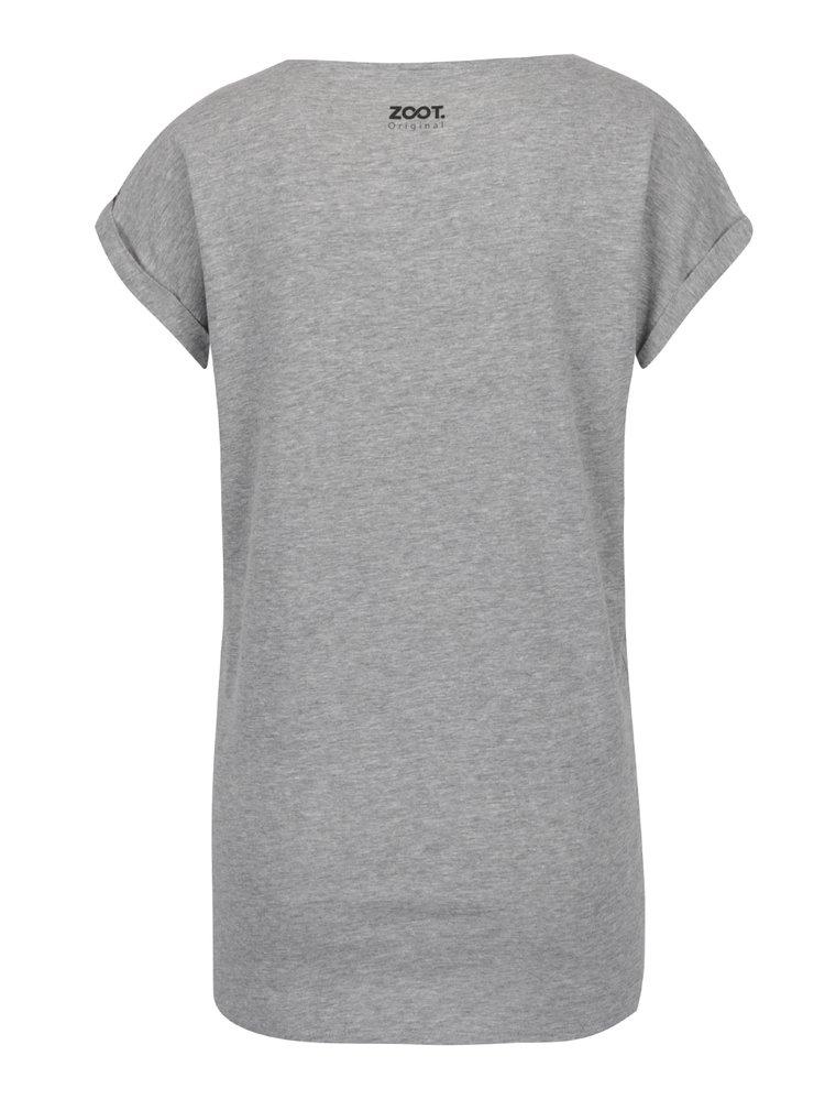 Šedé dámské tričko s krátkým rukávem ZOOT Originál Pojď si zamačkat