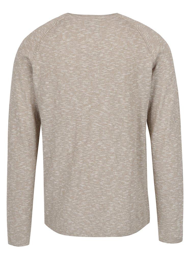 Béžový žíhaný svetr Jack & Jones Laguna