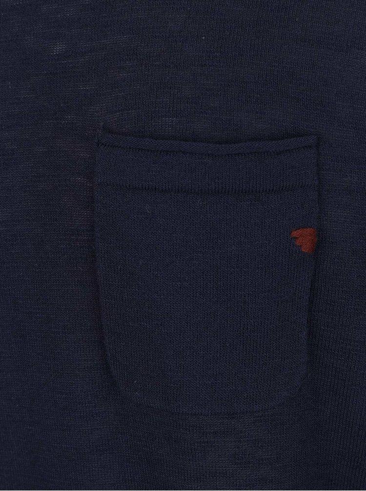 Tmavě modrý žíhaný svetr Jack & Jones Laguna