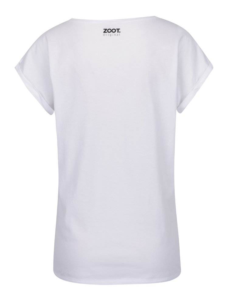 Tricou alb cu imprimeu ZOOT Original de dama