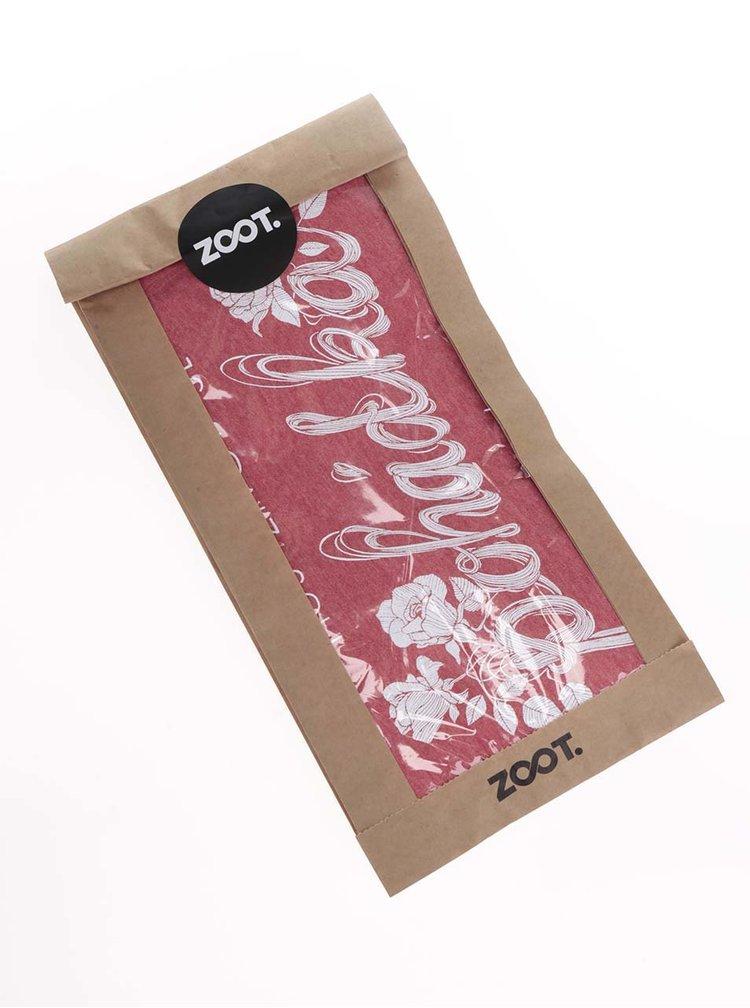 Tricou rosu capsuna cu imprimeu ZOOT Original de dama