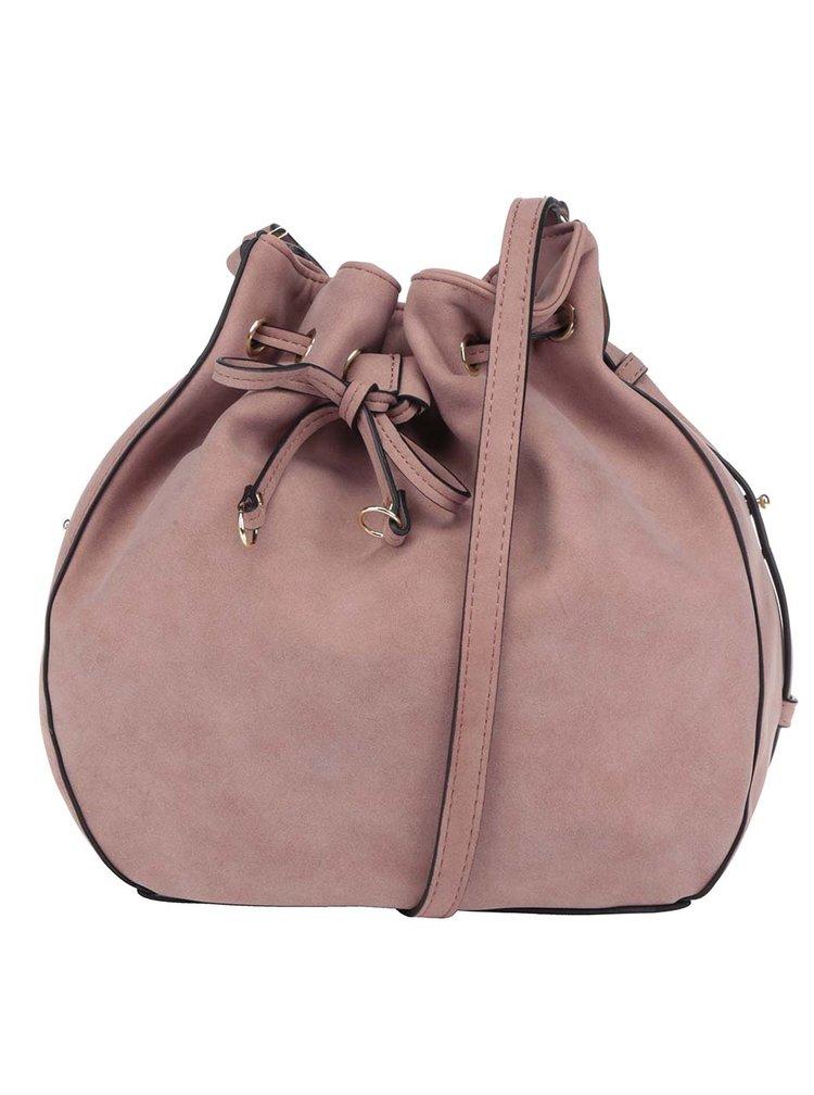 Světle růžová kabelka Pieces Kabe