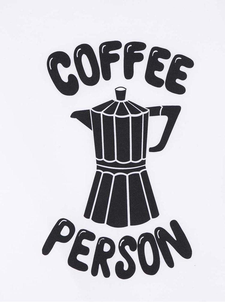 Bluza alba unisex ZOOT Originál Coffee person cu imprimeu