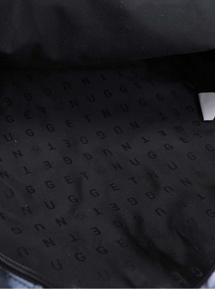 Černo-šedý vzorovaný batoh s logem a potiskem NUGGET Arbiter 30 l