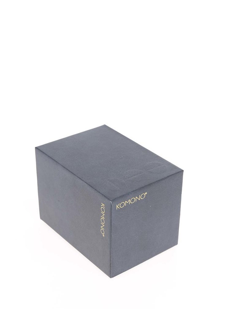 Ceas auriu cu curea bleumarin din piele pentru femei Komono Estelle