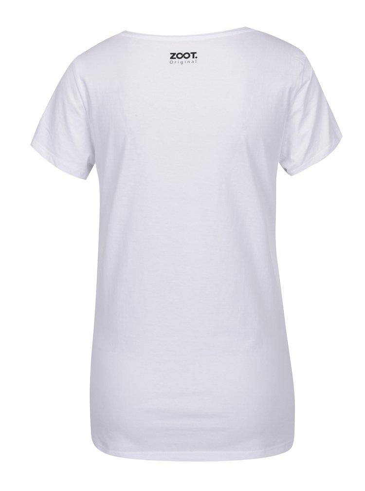 Bílé dámské tričko s krátkým rukávem ZOOT Originál Not lost