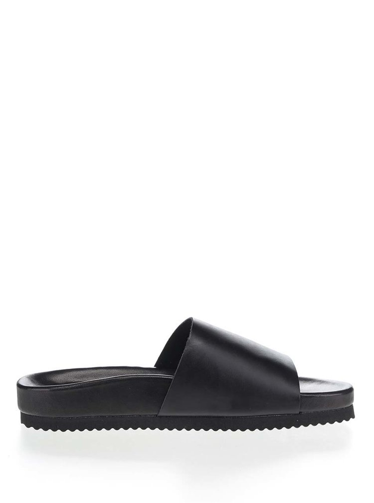 Papuci negri Selected Homme Haustin din piele