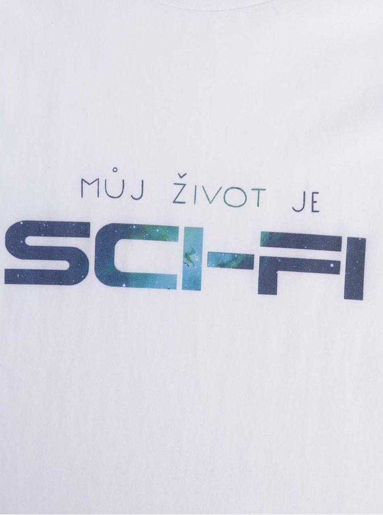 Bílé pánské triko s krátkým rukávem ZOOT Originál SCI-FI