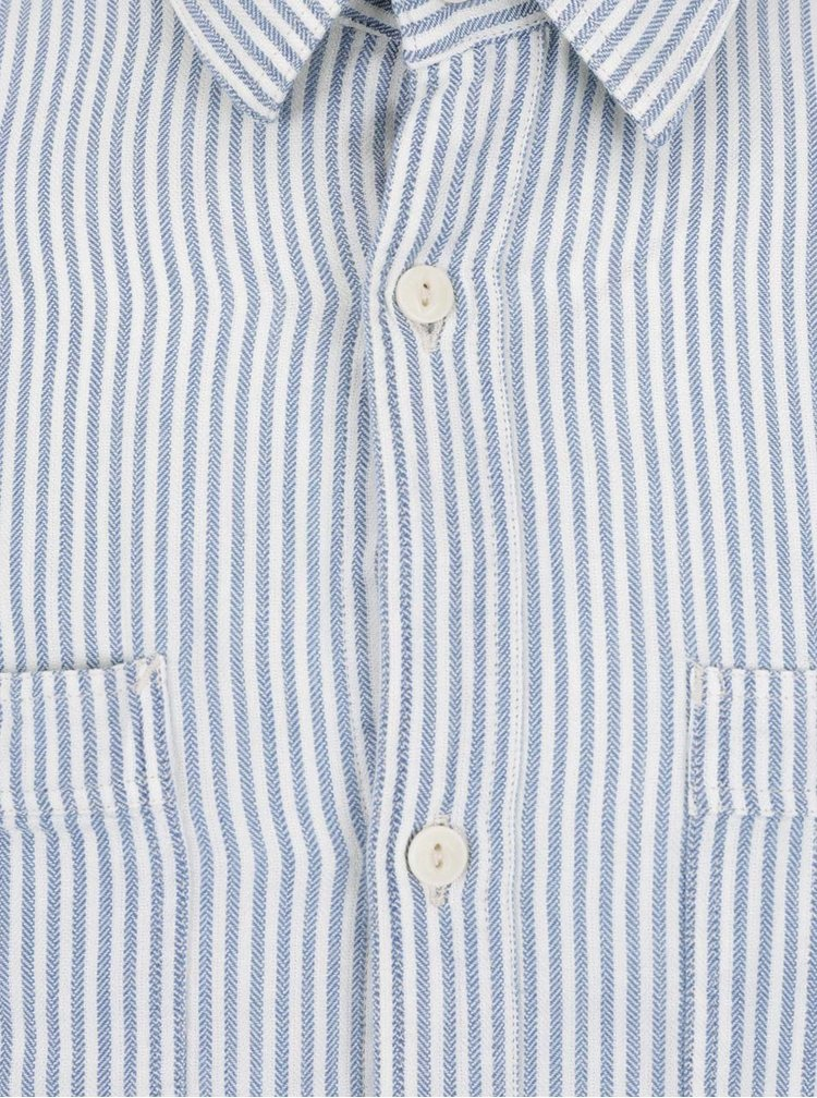 Cămașă alb & albastru Jack & Jones Fu cu model în dungi