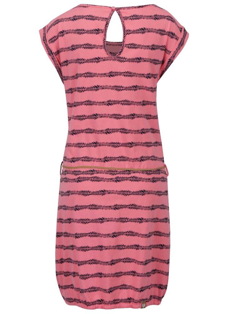 Černo-růžové pruhované šaty Ragwear Montana