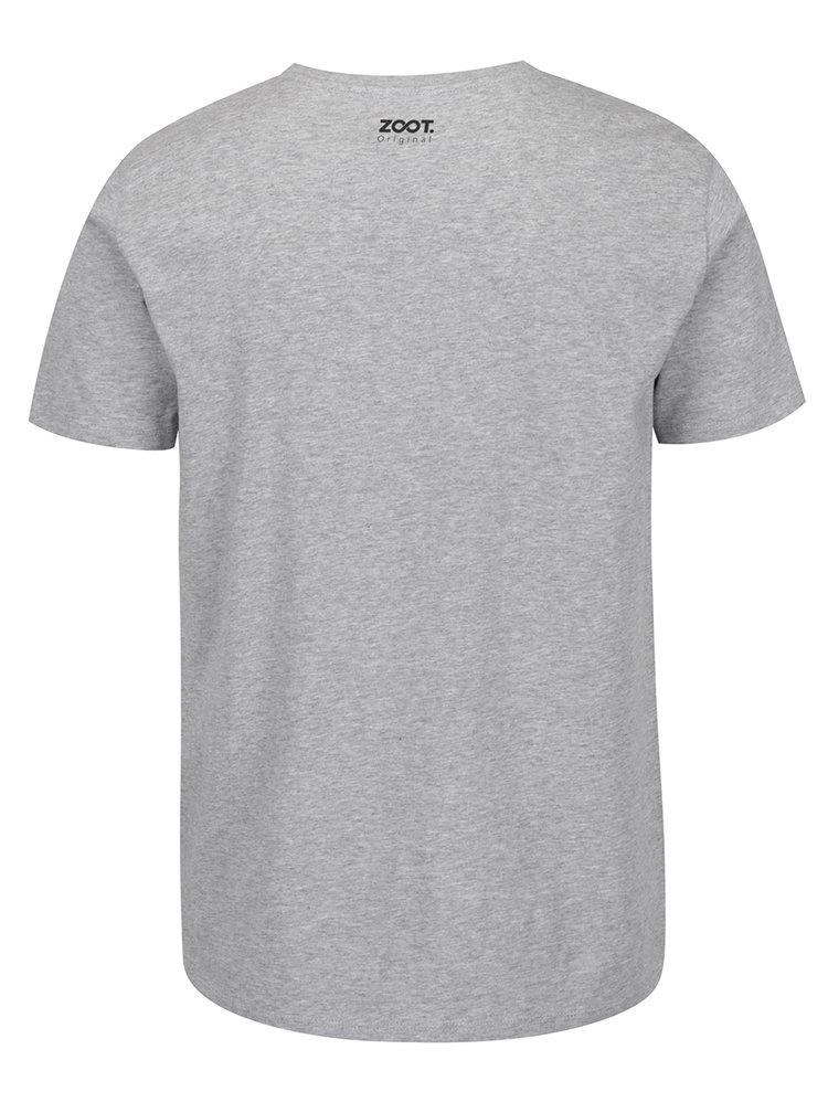 Tricou gri melanj  ZOOT Originál  cu imprimeu