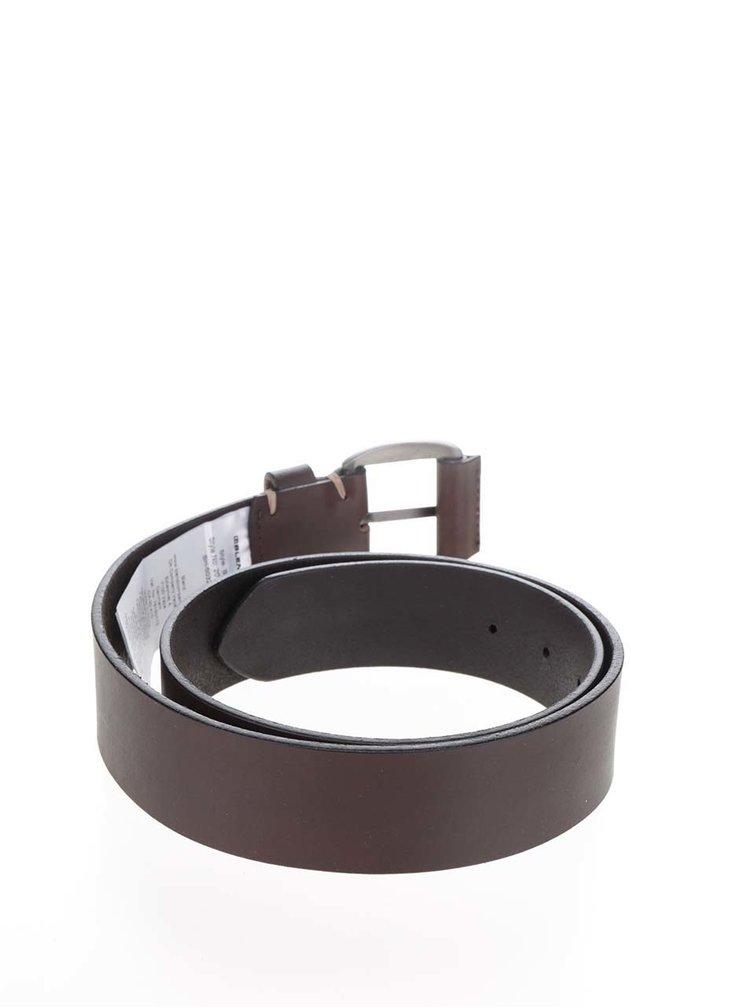 Tmavě hnědý kožený pásek Blend