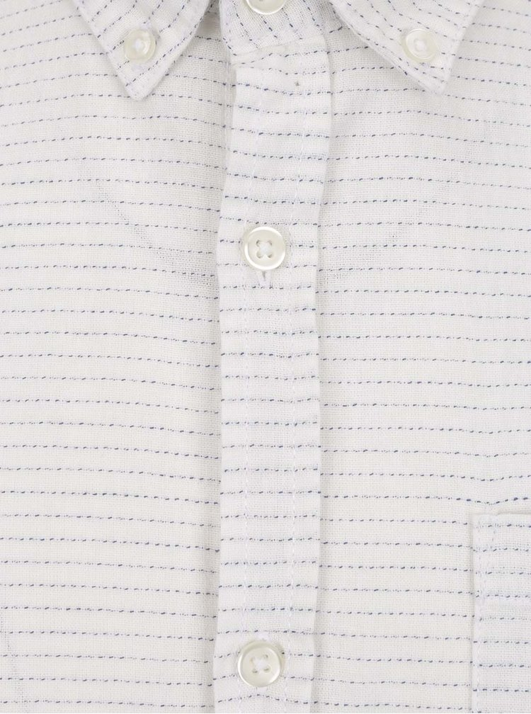 Bílá košile s krátkými rukávy Jack & Jones Dirk