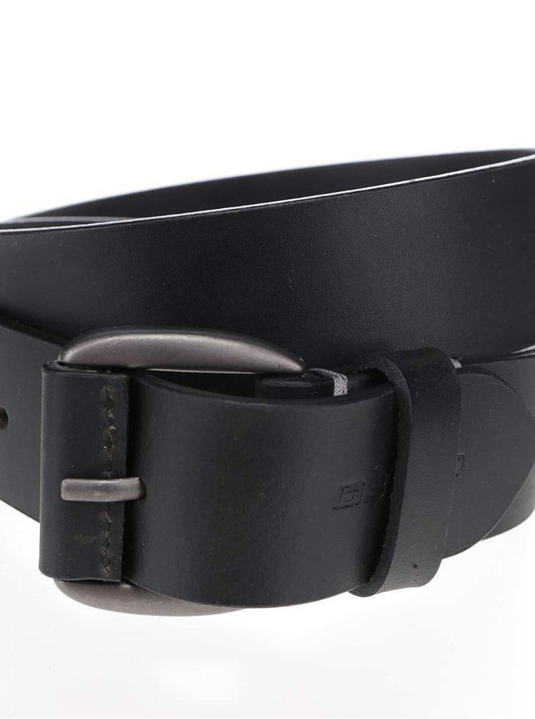 Černý kožený pásek Blend