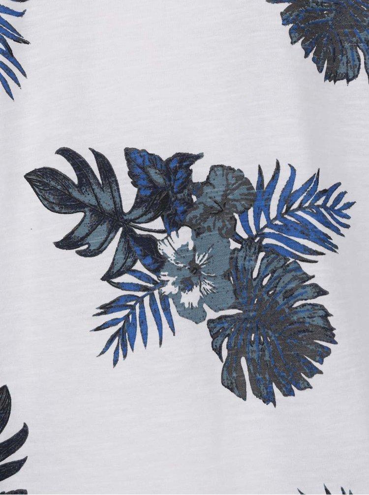 Bílo-modré květované triko ONLY & SONS That