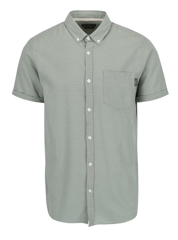 Zelená košile s krátkými rukávy Jack & Jones Dirk