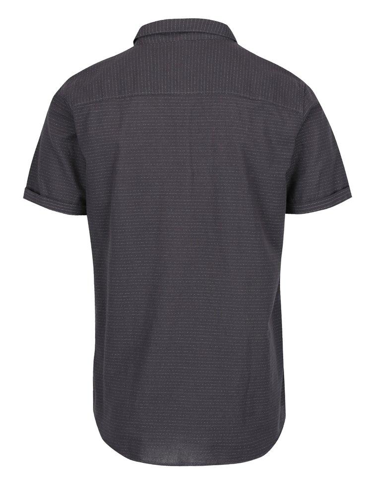 Tmavě šedá košile s krátkými rukávy Jack & Jones Dirk