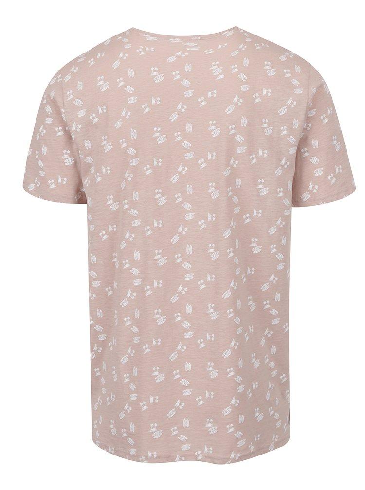 Starorůžové triko s potiskem ONLY & SONS Simon