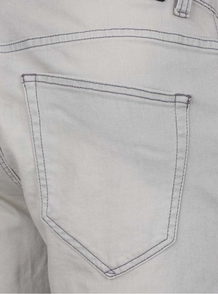 Pantaloni scurti gri deschis Only & Sons Loom cu aspect prespalat
