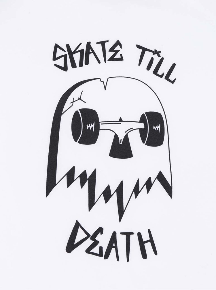Černo-bílé unisex triko s 3/4 rukávem ZOOT Originál Skate till death