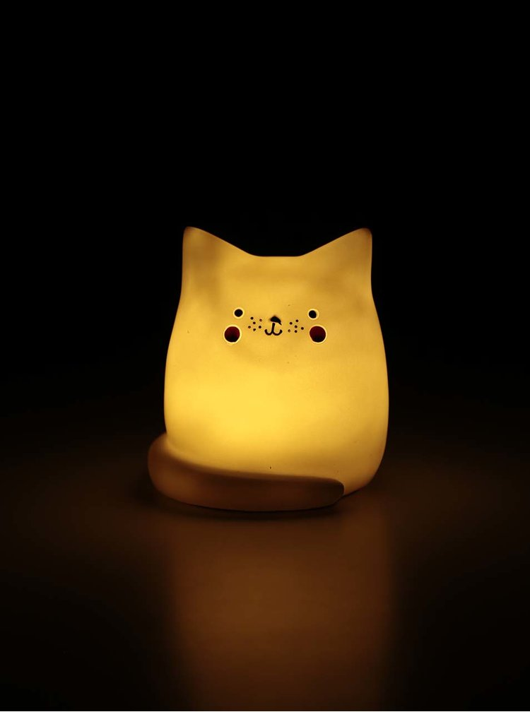 Lampa LED gri in forma de pisica Disaster Cat