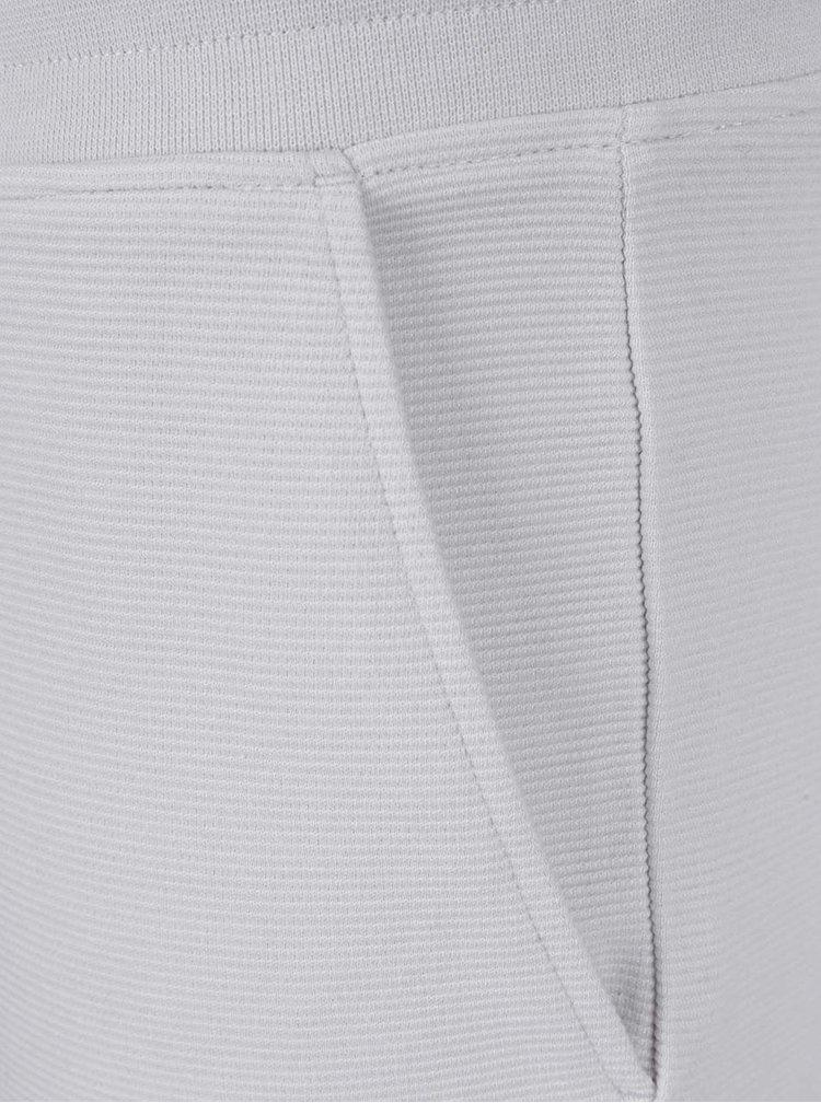 Bílé žebrované teplákové kraťasy Jack & Jones Otto