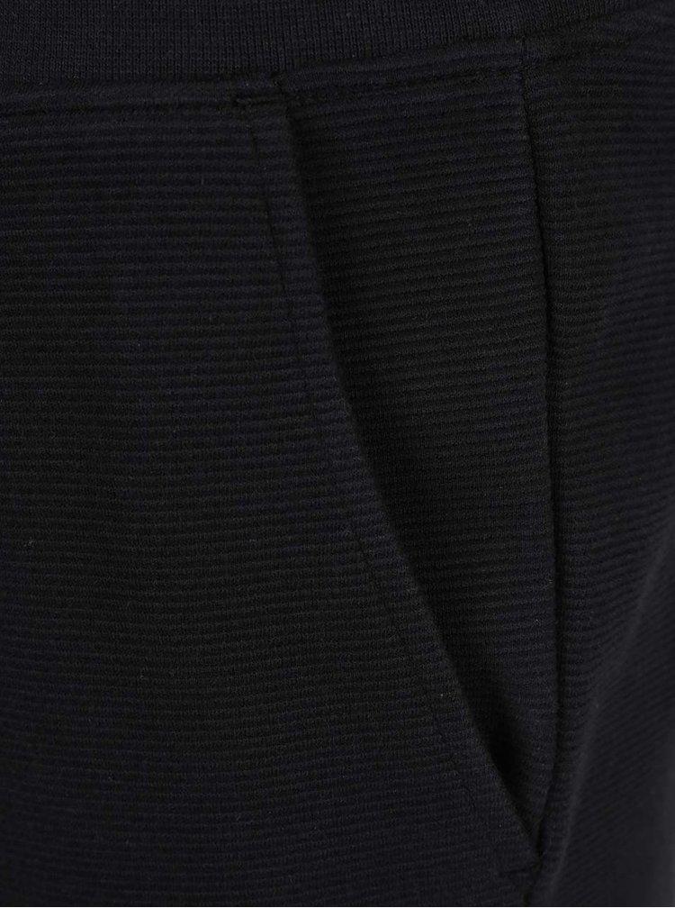 Pantaloni sport scurți negri Jack & Jones Otto cu striații