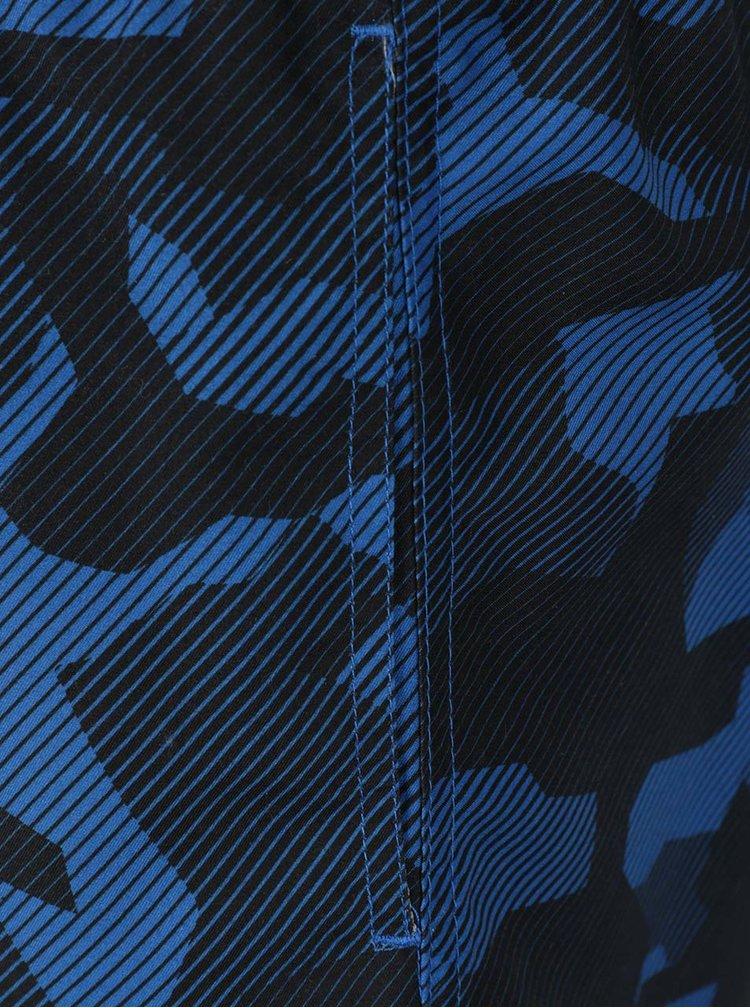 Černo-modré maskáčové plavky Jack & Jones Camo