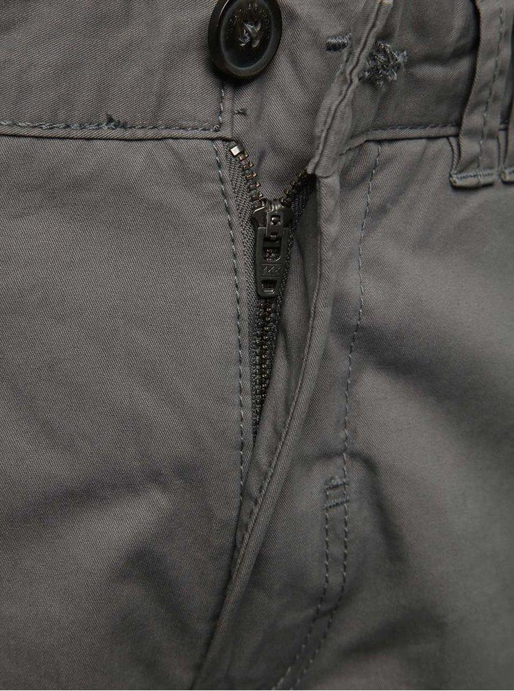 Pantaloni scurti chino gri inchis Blend din bumbac