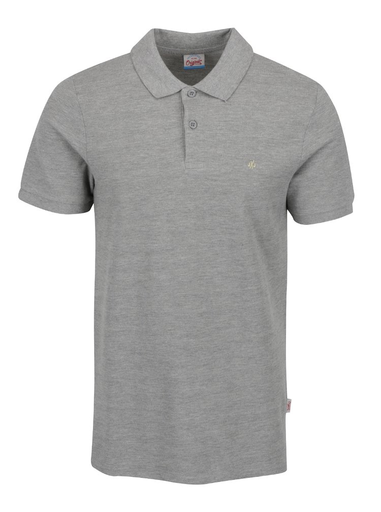 Šedé polo triko Jack & Jones Perfecto