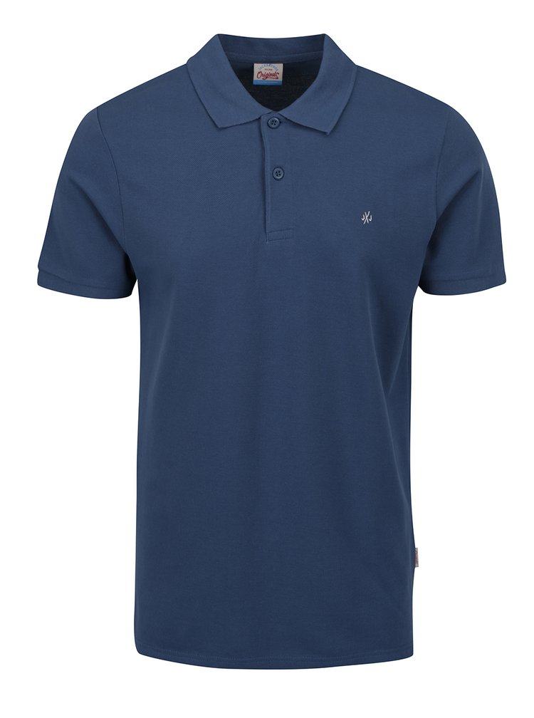 Tricou polo albastru Jack & Jones Perfecto