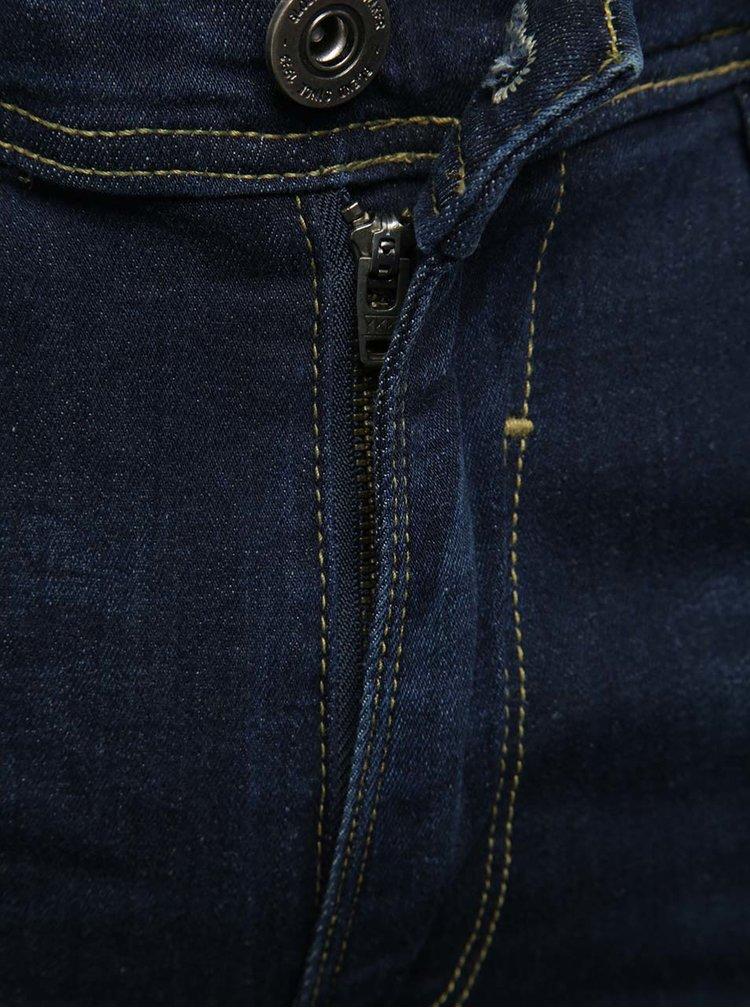 Blugi skinny albastri Blend cu aspect prespalat