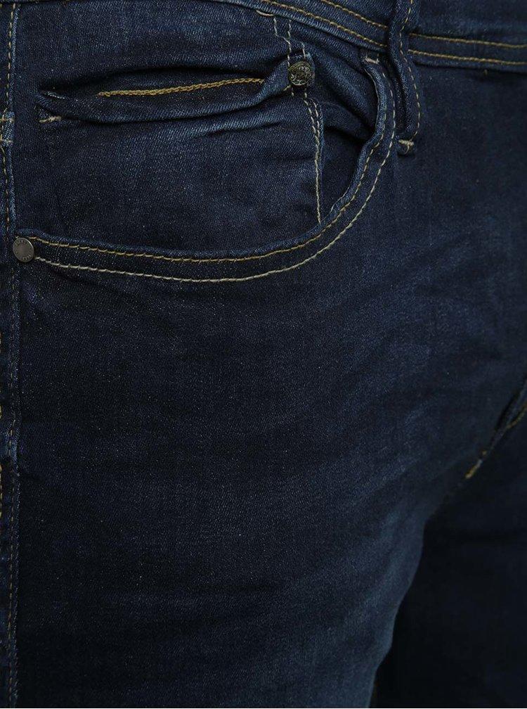 Blugi skinny albaștri Blend cu aspect prespălat