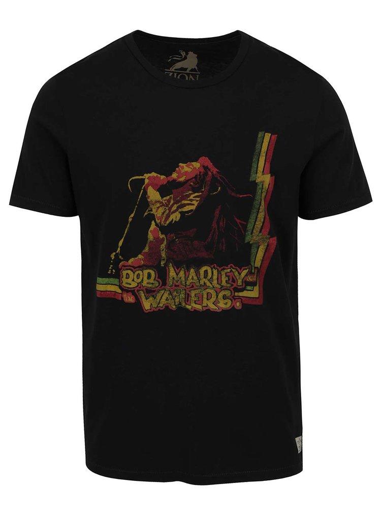 Černé triko s potiskem Jack & Jones Bob Marley